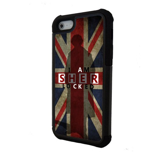 I am Sherlocked BBC iPhone 5 case with extra protection- iPhone 5 cover, 2 pi...