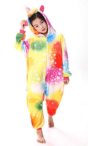 YOLSUN Unicorn Onesie Pajamas, Kids Cute Animal Costume Cosplay (110(Suggest Height:40