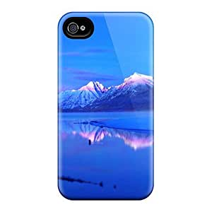 Fashion Tpu Case For Iphone 4/4s- Focus On Mountains At Dusk Defender Case Cover