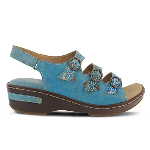 Sandal Spring Blue Leather Step Sky Style L'ARTISTE Leather by Women's Burbandale SxzFP