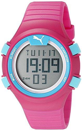 PUMA Unisex PU911261003 Faas 100 S pink Digital Display Watch
