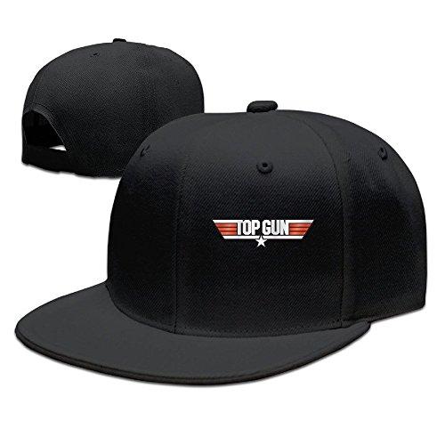 TopSeller Unisex Top Gun Adjustable Snapback Flat Baseball Hat Cap (Womens Top Gun Fancy Dress)