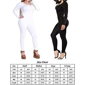 Xugwlkj Womens One Piece Bodysuit Shapewear Bodycon Clubwear Jumpsuits Romper