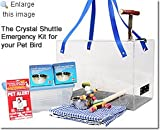 Crystal Shuttle Bird Carrier and Emergency Kit for Cockatiel and Finch size birds, My Pet Supplies
