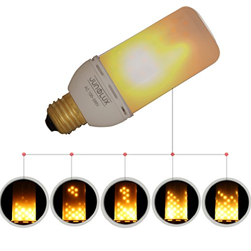 JUNOLUX LED Creative Lighting Bulbs Super Warm White Flame Light Burning Effect Decorative Fire Flickering Simulation,Christmas decorations,Pack of 1