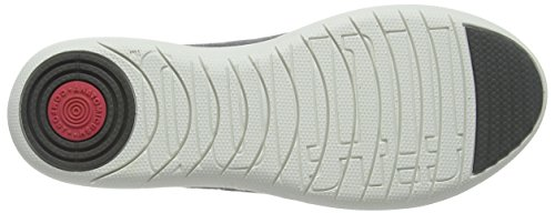 Fitflop F-Sporty Ballerina, Bailarinas Para Mujer Gris (Charcoal)