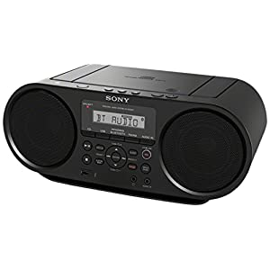 Sony ZSRS60BT CD Boombox with Bluetooth and NFC (Black)