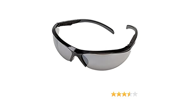 Silver Mirror Safety Works 10083067 Essential Adjustable Safety Glasses