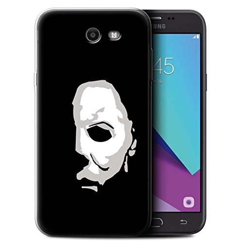 (STUFF4 Gel TPU Phone Case / Cover for Samsung Galaxy J7 2017/J727 / Michael Myers Inspired Art Design / Horror Movie Art)