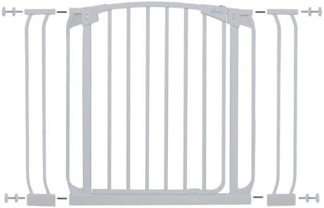 Dreambaby G778W - Barrera de seguridad con puerta (altura: 73 cm, ancho: 71-100 cm): Amazon.es: Bebé