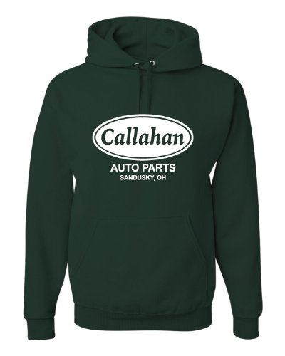 XX-Large Forest Green Adult Callahan Auto Parts Sandusky Ohio Tommy Boy Sweatshirt - Pullover Classic Ohio