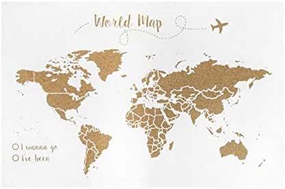 Decowood - Mapa Mundi de Corcho, Grande, para Marcar Tus Viajes ...