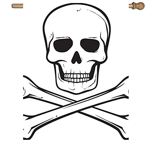 "vdefbfs Welcome Skull Crossed Yard Flag 27"""" x 37"""" Single S"