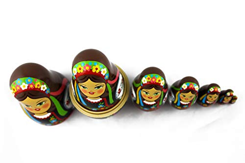 MATRYOSHKA&HANDICRAFT Ukrainian Nesting Dolls 7 Pieces - Ukrainian Gifts - Ukrainian Folk Costume Clothing by MATRYOSHKA&HANDICRAFT (Image #6)