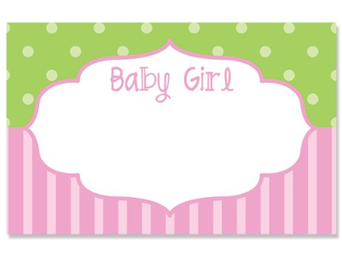 50 pack Baby Girl FrameNo Sentiment Enclosure Cards (20 unit, 50 pack per unit.) by Nas