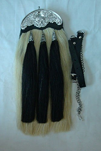 Brand New 100% Real Horse Hair Long Sporrans with Chain & Belt . by HOH