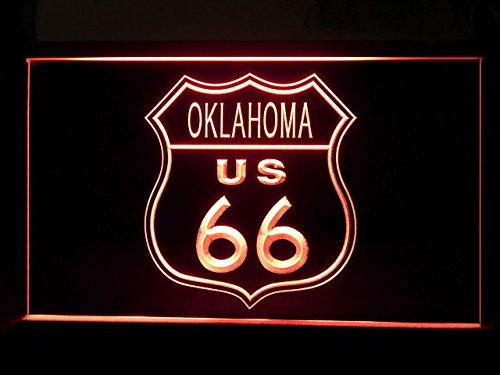 OK Route 66 US Oklahoma Led Light Sign - Oklahoma Led Sign