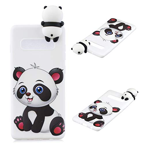 ZSTVIVA Case for Samsung Galaxy S10 Plus, 3D Cartoon TPU Lovely Cartoon Pattern Cover Painted Non-Slip Anti-Scratch Shockproof Soft Bumper for Samsung Galaxy S10 Plus - A Panda