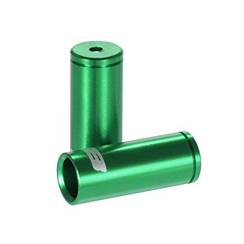 Lixada GUB 100pcs 4mm / 5mm Aluminio Aleación Bicicleta Desviador Cambio Freno Cable Cable Casquillo De Extremo Verde