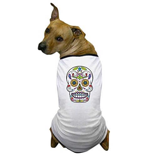 CafePress - Sugar Skull Dog T-Shirt - Dog T-Shirt, Pet Clothing, Funny Dog Costume