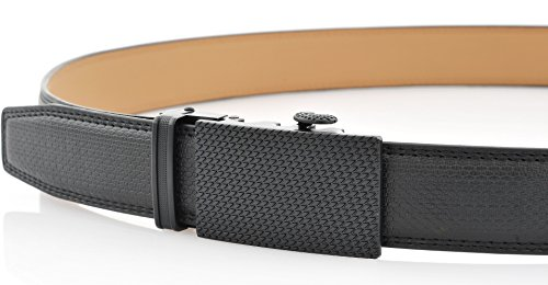 Marino Men's Genuine Leather Ratchet Dress Belt With Automatic Buckle, Enclosed in an Elegant Gift Box - Black - Adjustable from 28'' to 44'' Waist by Marino Avenue (Image #4)
