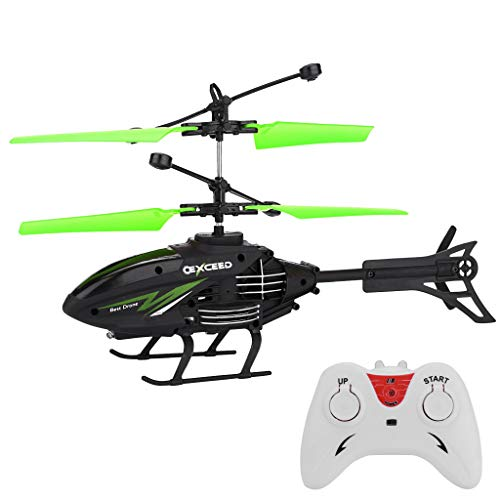Nihewoo Remote Control Airplane Aircraft Toy RC Infraed Induction Helicopter RC Helicopter with Gyro (Green)