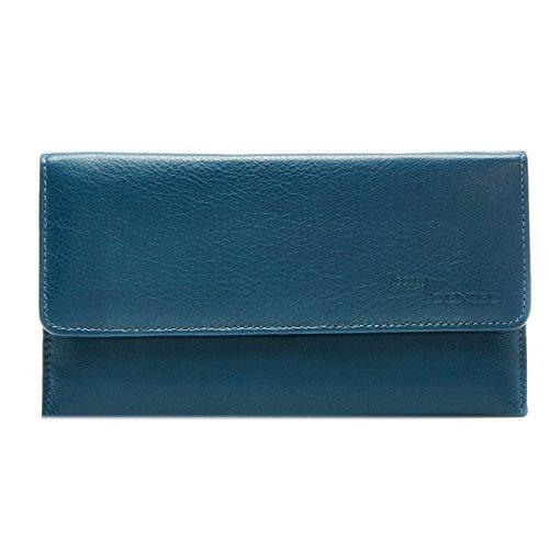 Genuine Leather Wallet Checkbook Blocking
