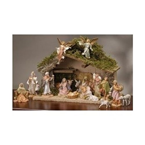 5'' Scale 17 Piece Figurine Set with Italian Stable
