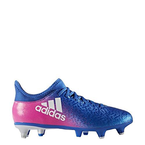 adidas X 16.3 SG J - Botas de fútbol para niños, Azul - (AZUL/FTWBLA/ROSIMP), -33