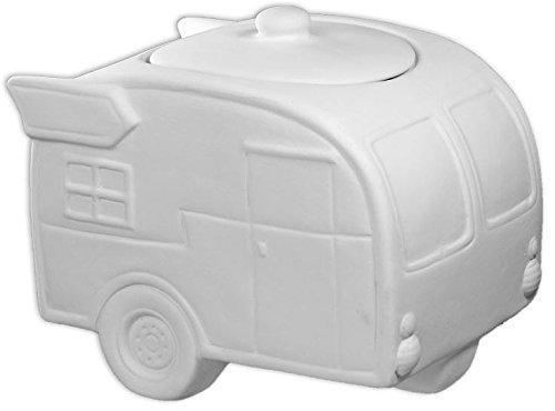 Let's Go Camping Camper Large Camper Jar - Paint Your Own Ceramic Keepsake
