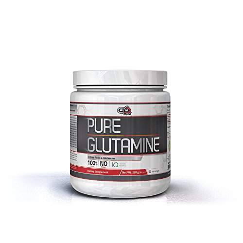 Pure Nutrition USA Pure Glutamine Free Form Micronized Unflavored L-Glutamine 5000mg Powder Sports Supplement (250 Grams)