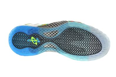 best service a8471 30cef Amazon.com   Nike Air Foamposite One Premium Weatherman Men s Basketball  Shoes White Current Blue-Flash Lime   Basketball