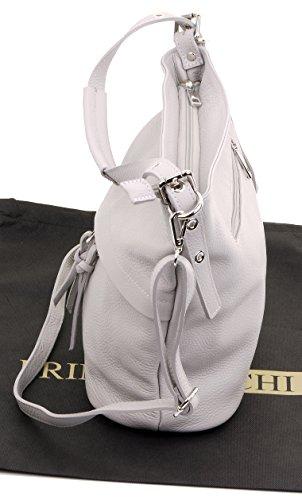 de manipulé protection un Sacchi® de italien bandoulière Clair main Sac tendre marque sac de Gris rose large Primo comprend rangement à cuir Long T0ZUyqWq