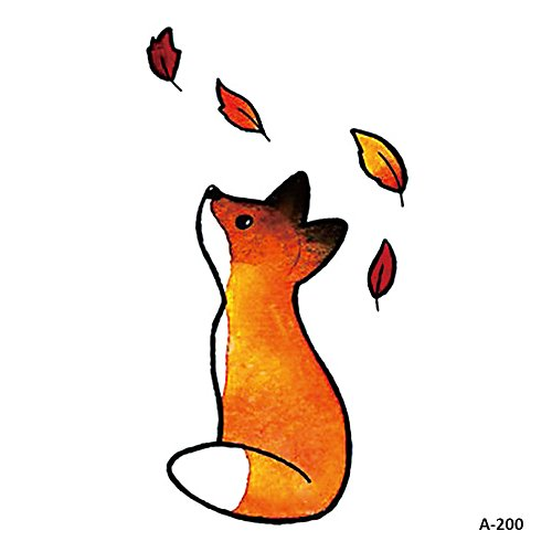 WYUEN 5 Sheets Cute Fox Kids Body Art Tattoo Sticker for sale  Delivered anywhere in Canada