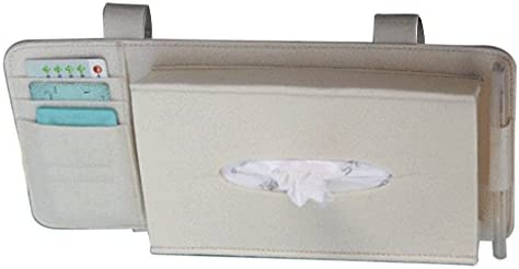 Fashion Car Styling Case Sun Visor Type Wool Felt Hanging Tissue Box Car Napkin Holder Vehicle Accessories Pocket Organizer Pouch Card Storage