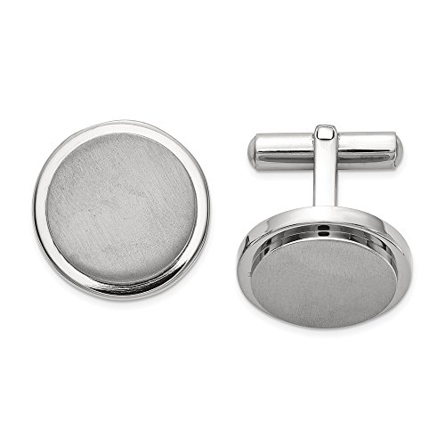 - JE Titanium Brushed and Polished Cuff Links