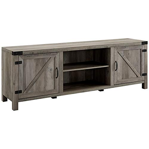 Walker Edison Furniture Company 70'' Farmhouse Barn Door TV Stand - Grey Wash by Walker Edison Furniture Company