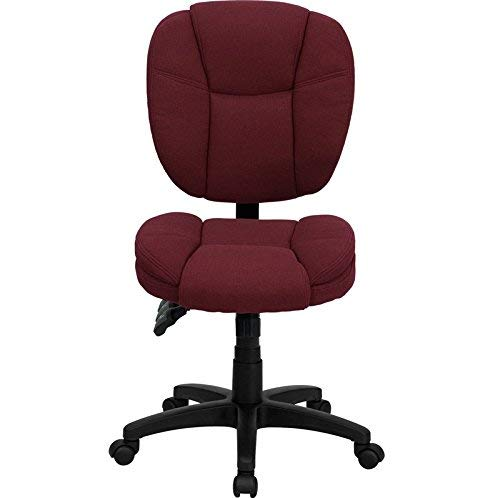 Flash Furniture Mid-Back Burgundy Fabric Multifunction Ergonomic Swivel Task Chair