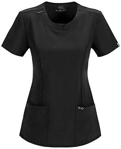 - Cherokee Infinity Women's Split Round Neck Solid Scrub Top XXXX-Large Khaki
