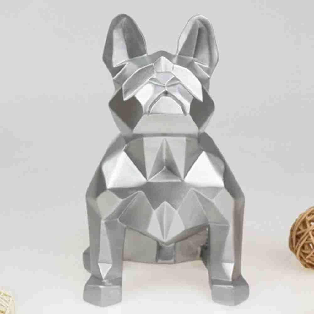 2 stücke Handgemachte Harz Handwerk Französisch Bulldog Figur Tier Statue