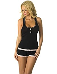 Sweetness Short Sexy PJ Camisole Set Pajama Sleep Shirt Sleepwear