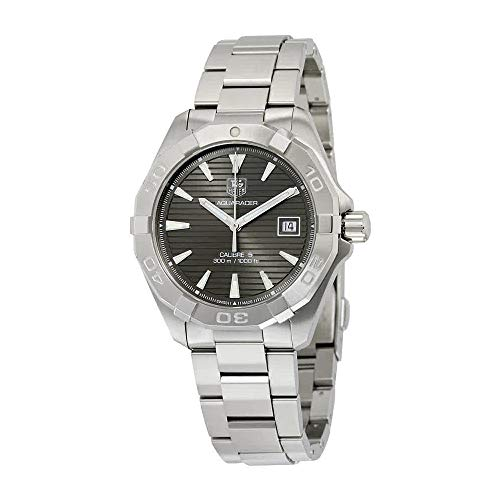 TAG Heuer Men's 'Aquaracracer' Swiss Automatic Stainless Steel Dress Watch, Color:Silver-Toned (Model: WAY2113.BA0928) ()
