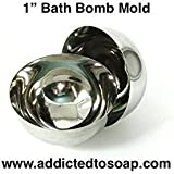 Addicted to Soap - 4 Inch Bath Bomb Stainless Steel Mold - Heavy Duty 1 1.5 2 2.5 2.75 3 3.5 4 inch Professional Set Bath Bomb Molds - Food Mold Safe to (1 inch Bath Bomb Mold)