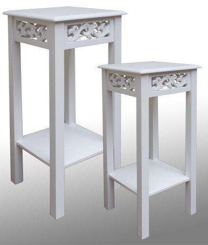 lot de 2 meubles console tagre pour vase ou pot de fleur amazonfr cuisine maison