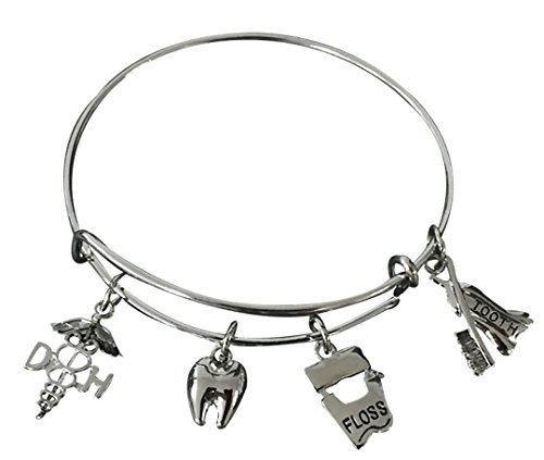 Infinity Collection Dental Hygienist Bracelet, Dental Hygienist Charm Bracelet for Women, Dental Hygienist Jewelry, Dental Hygienist Gift