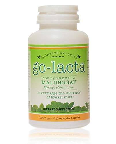 Go-Lacta Premium Malunggay (Moringa oleifera Lam.) Breastfeeding Supplement Clinically Proven to Support Lactation (120 Capsules) (Best Breast Pump Philippines)