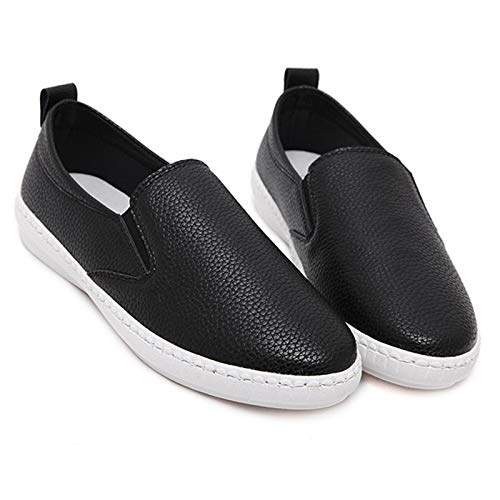 fashion FLYRCX Black casual office comfortable shoes spring work shoes slip Ladies autumn round and flat non head fRC0HTqwC