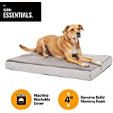 BarkBox Orthopedic Plush Memory Foam Dog Bed or Crate Mat Small-XL, 4 Colors | Removable Washable Cover, Squeaker Toy as Gift