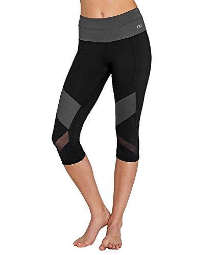 2(x)ist Women's Performance Capri Legging, Black with Grey, M