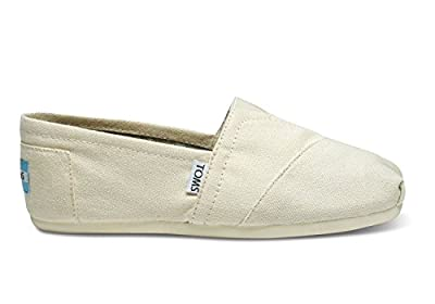 TOMS Women's Classic Slip-On (7 B(M) US/37-38 EUR, Natural Canvas)